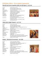 Pasqua 2014 - Coro della Cattedrale