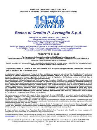 Banco di Credito P. Azzoaglio S.p.A.
