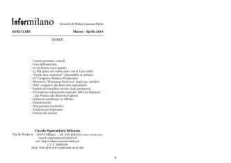 ANNO LXIII Marzo - Circolo Esperantista Milanese