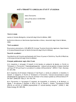 ANITA FERRARETTO CURRICULUM VITAE ET STUDIORUM Anita