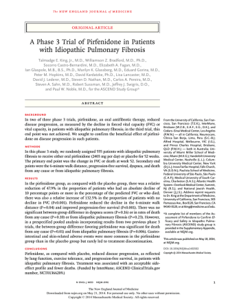 A Phase 3 Trial of Pirfenidone in Patients with Idiopathic Pulmonary