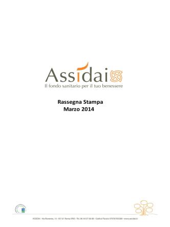 Assidai - Rassegna Stampa Marzo 2014