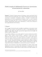 Diritto europeo ed affidamenti di servizi in convenzione ad