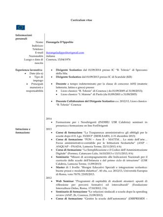 curriculum DS - ISTITUTO COMPRENSIVO