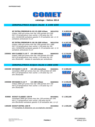 COMET.idropulitrici -cat-list 2014 - rappresentanze