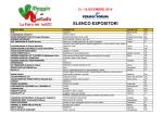 Elenco dettagliato degli ESPOSITORI 2014.