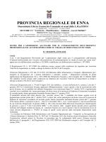 Bando II^ SESSIONE 2014 - Provincia Regionale di Enna