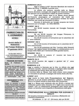 B-ordinario-3-15 - Parrocchia di Mattarello