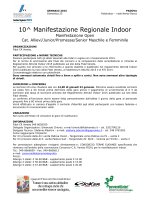 10^ Manifestazione Regionale Indoor