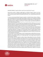 INAUGURAZIONE DEL 453° - Università degli Studi di Sassari