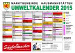 Umweltkalender 2015
