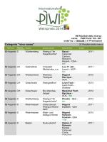 PREMIO DEI VINI PIWI 2014 - PIWI