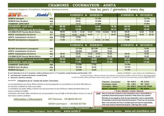 CHAMONIX - COURMAYEUR - AOSTA