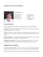 curriculum isabella bignozzi - Studio Dentistico Bignozzi Littarru