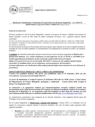Allegato - Università degli Studi di Catania