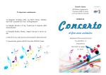 """programma concerto - Istituto Comprensivo """"Giovanni XXIII"""""""