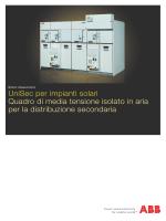UniSec per impianti solari Quadro di media tensione isolato in