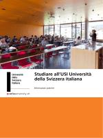 Guida dello studente - USI - Università della Svizzera italiana