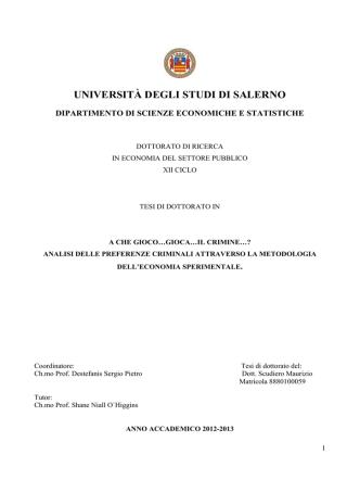 capitolo 1 - EleA@UniSA - Università degli Studi di Salerno