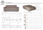 MURRAY divano letto -divano fisso | sofa bed -sofa