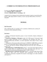 curriculum - Medicina dello sport – Barletta