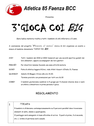 Atletica 85 Faenza BCC - Fidal Emilia