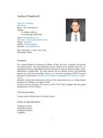 Curriculum Vitae - Andrea Mambretti