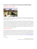 Summer Law Schools Newsletter di ELSA Italia