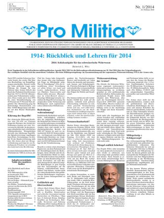 1914: Rückblick und Lehren für 2014