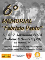 "6° MEMORIAL ""Fabrizio Panin"""