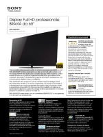 Display Full HD professionale BRAVIA da 65""