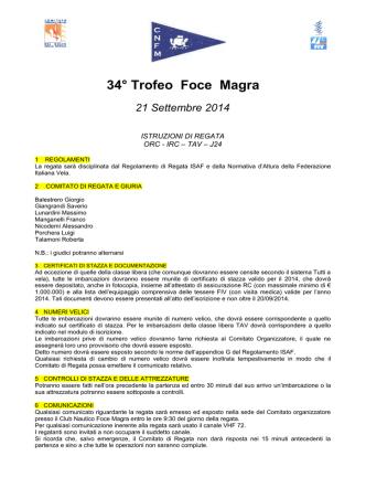 34° Trofeo Foce Magra - comitato circoli velici del golfo 2015