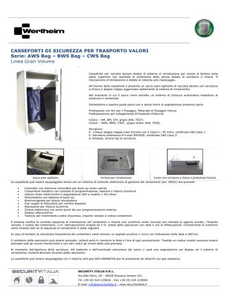AWS Bag – BWS Bag - SECURITY ITALIA