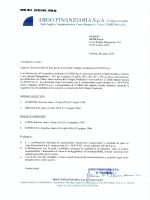 Scarica Lista per collegio sindacale - Argo Finanziaria