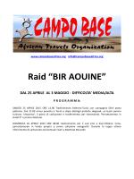 """Raid """"BIR AOUINE"""""""
