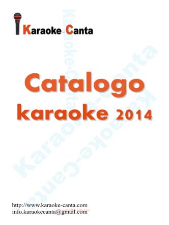 Catalogo karaoke-canta 2014 - karaoke