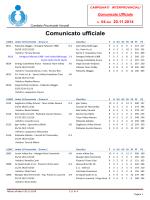 Comunicato n. 04 2014-15