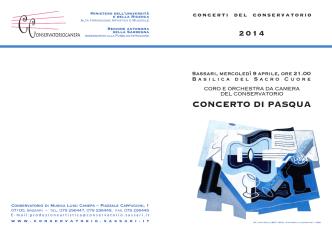 CONCERTO DI PASQUA - Conservatorio di Musica