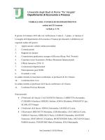 22 Gennaio 2014 - Facoltà di Economia