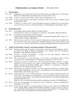Publikationsliste von Stephan Schmid (November 2014)