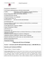 Geologia II - Università della Calabria