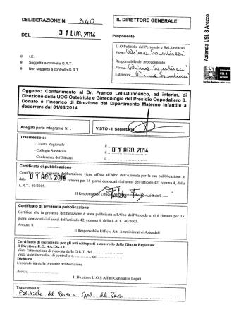 3 1 L un, ?n1l. - Azienda Sanitaria USL 8 Arezzo