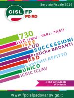 libretto speciale caf 2014 - CISL Funzione Pubblica Padova Rovigo