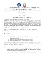 """Contrattazione - Liceo Artistico """" Grandi"""" Sorrento"""