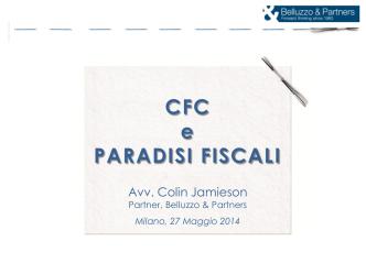 CFC e PARADISI FISCALI