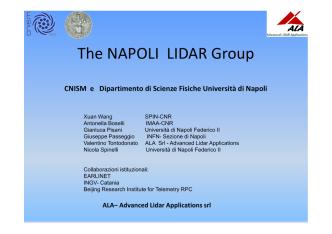 Come nasce il gruppo LIDAR - New laser