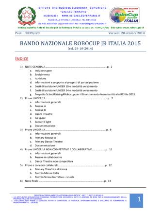 bando nazionale robocup jr italia 2015