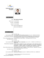 CV - Università Telematica Unitelma Sapienza