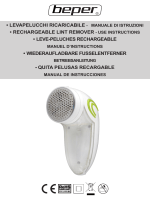 manuale di istruzioni • rechargeable lint remover - use