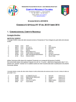 Comunicato Ufficiale n. 47 del 20 Ottobre 2014
